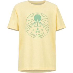 Marmot Nico t-shirt Meisjes, banana cream heather